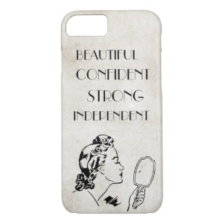 Retro Woman Mirror Strong Beautiful... iPhone 7 Case