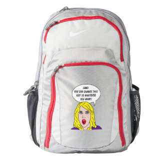 RETRO WOMAN with YOUR TEXT custom backbags Backpack