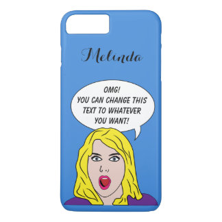 RETRO WOMAN with YOUR TEXT custom phone cases