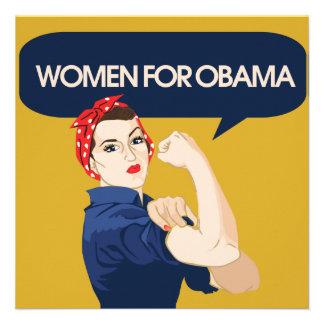 Retro Women for Obama Personalized Announcements