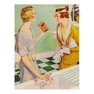 Retro Women Postcard