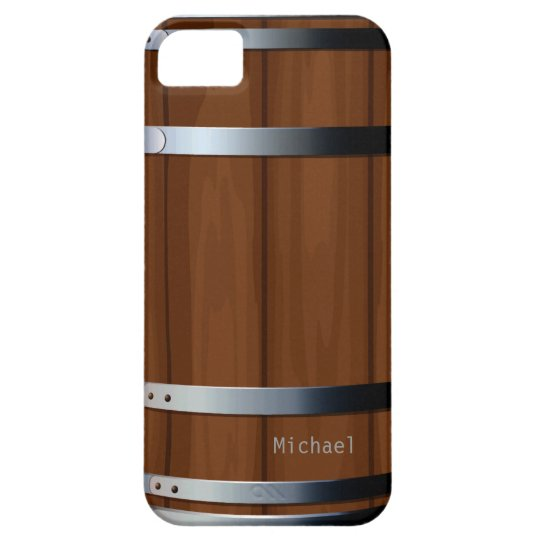 Retro Wooden Beer Barrel Barely There iPhone 5 Case