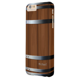 Retro Wooden Beer Barrel Barely There iPhone 6 Plus Case