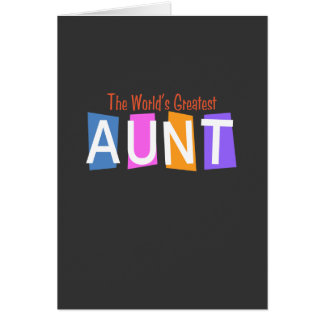 Retro World s Greatest Aunt Greeting Card