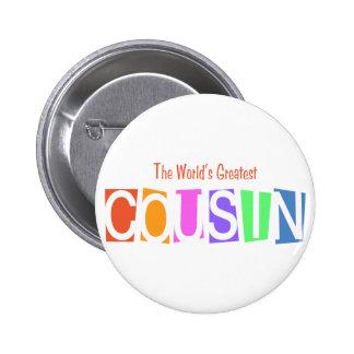 Retro World s Greatest Cousin Button