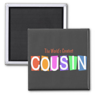 Retro World s Greatest Cousin Magnet