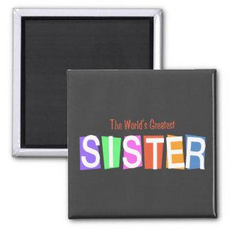 Retro World s Greatest Sister Magnet