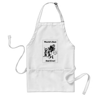 Retro World's Best Football Dad Standard Apron