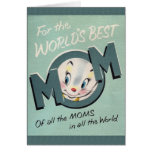 Retro World's Best Mum Mother's Day Card