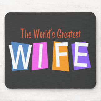 Retro World's Greatest Wife Mouse Mat