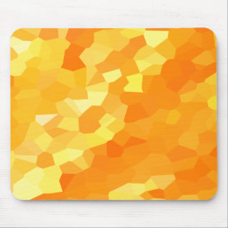 Retro Yellow and Orange Stained Glass Fall Mosaic Mouse Mat