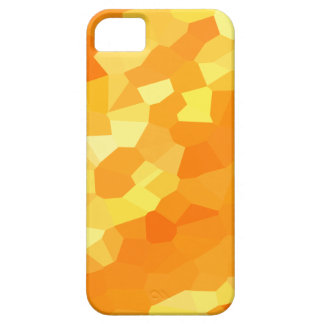 Retro Yellow and Orange Stained Glass Sunset iPhone 5 Covers