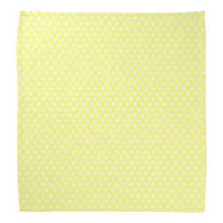 Retro yellow and white polka dot bandana