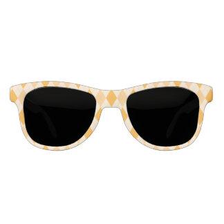 Retro yellow argyle rockabilly sunglasses