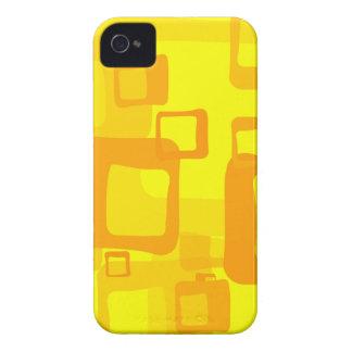 Retro Yellow Background iPhone 4 Case-Mate Cases