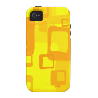 Retro Yellow Background iPhone 4 Cover