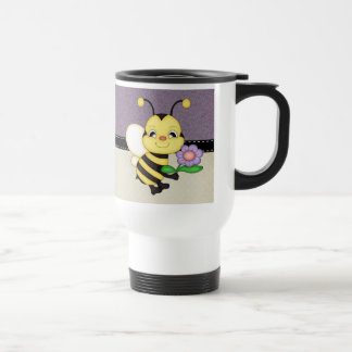 Retro Yellow Bumble Bee Travel Mug