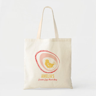 Retro Yellow Chick Chic Cute Easter Egg Hunt Bag