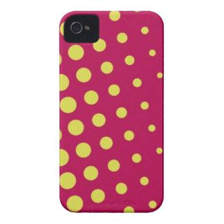 Retro yellow dots iPhone 4 cases