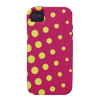 Retro yellow dots iPhone 4/4S cover