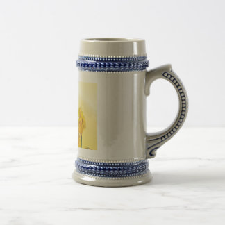Retro Yellow Narcissus Daffodil Vintage Beer Steins