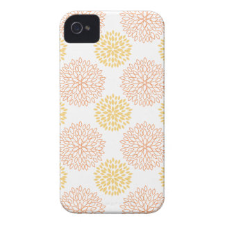 Retro Yellow, Orange, and White Flowers, Floral iPhone 4 Case-Mate Case