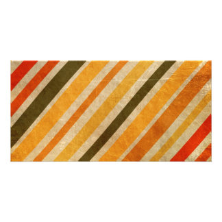 RETRO YELLOW ORANGE RED DIRT GREEN STRIPES PATTERN PICTURE CARD