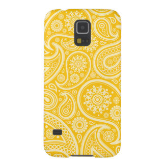 Retro Yellow Paisley Pattern Cases For Galaxy S5