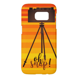 Retro Yellow Summer Stripes Camera Old Fashion