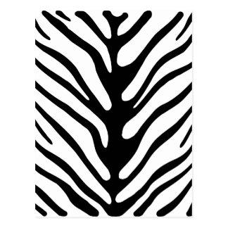 Retro Zebra Stripe Motif Postcards