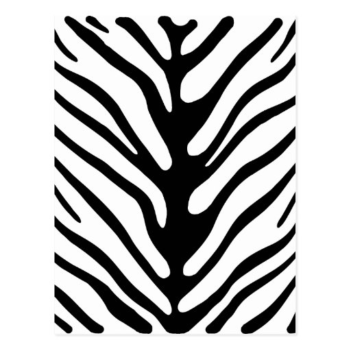retro zebra stripe motif postcards zazzle. Black Bedroom Furniture Sets. Home Design Ideas