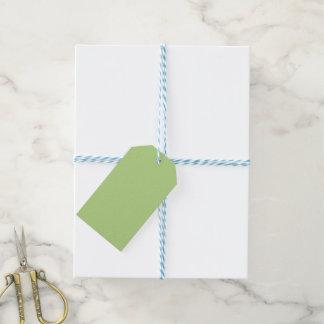Retro Zig-Zag Orange and Green Gift Tags