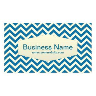 Retro Zigzag Aerospace Engineer Business Card