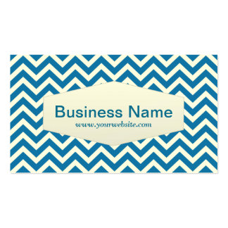 Retro Zigzag Investment Banker Business Card
