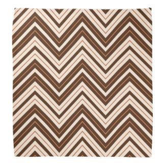Retro Zigzag Pattern Cream Rust Brown Bandannas