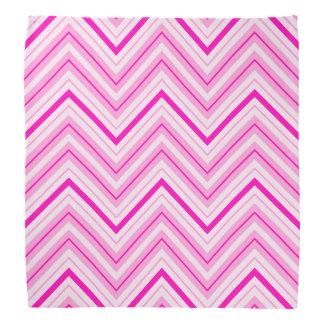 Retro Zigzag Pattern Pinks Kerchiefs
