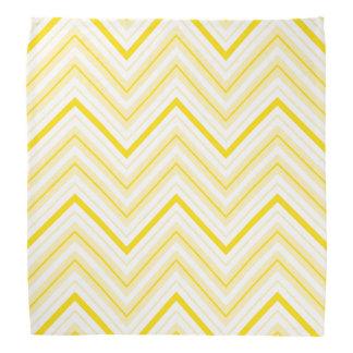 Retro Zigzag Pattern Yellows & White Kerchief