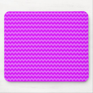 Retro Zigzags Purple Mouse Pad