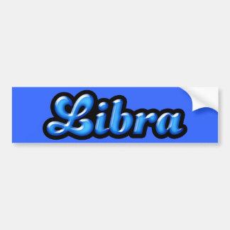Retro Zodiac Libra Bumper Sticker