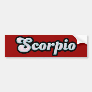 Retro Zodiac Opal Bumper Sticker