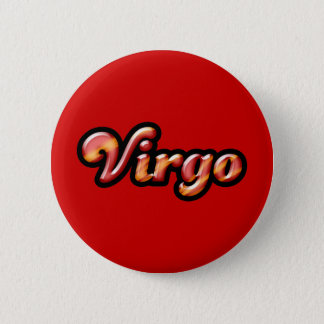 Retro Zodiac Virgo 6 Cm Round Badge