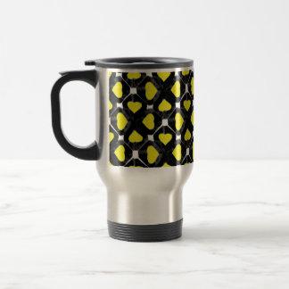 Retroblackyellowheartcutout Mug