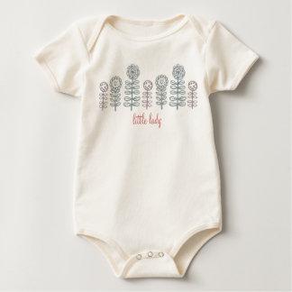 retroflora little lady organic baby wear girl baby bodysuit