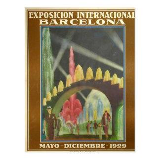 Retrofuturista postcard of the Expo Bcn 1929