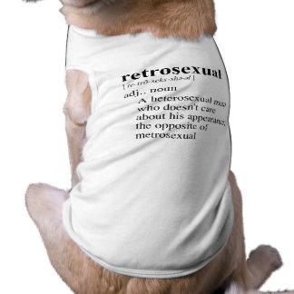 RETROSEXUAL SLEEVELESS DOG SHIRT