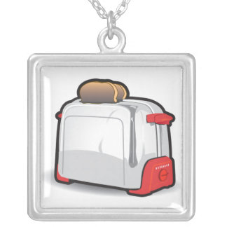 RetroToaster Silver Plated Necklace