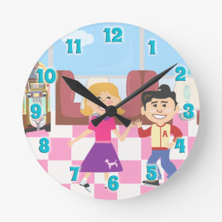 Retroville Sock Hop Diner Clocks