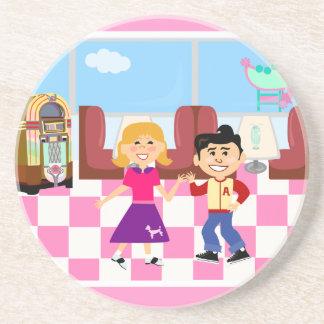 Retroville Sock Hop Diner Coaster