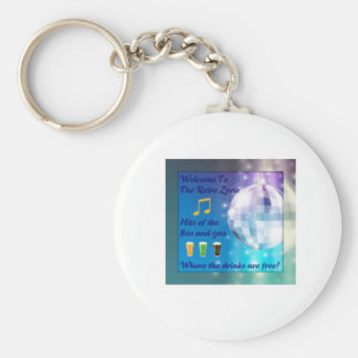 retrozone pic basic round button key ring