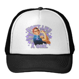 Rett Syndrome Vintage Rosie Fight Like A Girl Hat